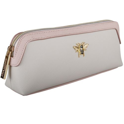 Alice Wheeler Bumblebee Beauty & Brush Bag – Cream & Pink