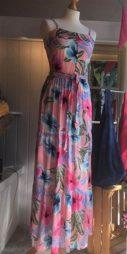Dress - Tiered Maxi - Floral - Pink