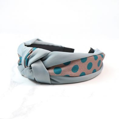 Spotty Print Headband - Teal